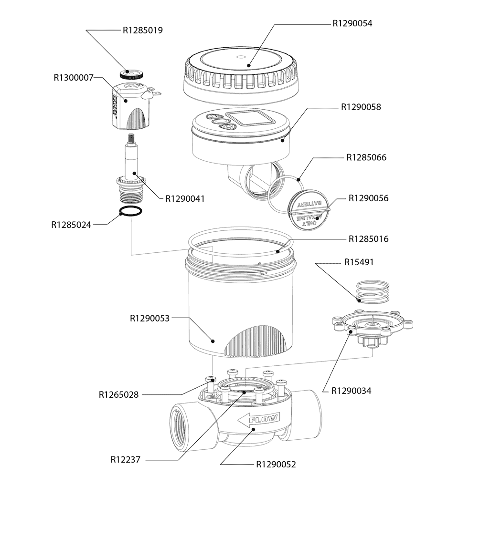 Claber 90826 Elettrovalvole Programmabile 9V ELETTRA EVOLUTION